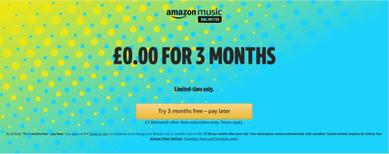 Amazon Music Streaming Deal